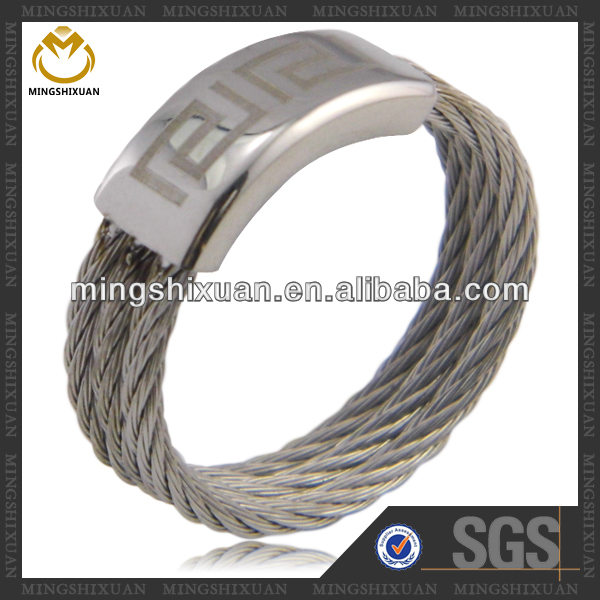 Fashion Ring Finger Steel Wire Braided Rope Design Rings