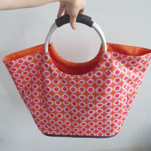 Lovely Canvas Shoulder Bag Shopping Tote Bag With Side Pockets for Sales