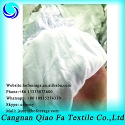 BED SHEET RAGS white used clothes for cleaning ship and car oil absorbing