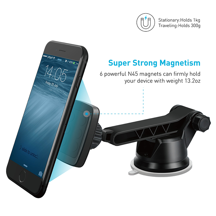 Apps2car Universal Magnetic Car Mount Phone Holder