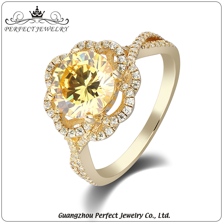 Hottest selling factory custom make fashion jewelry wedding silver ring with zirconia