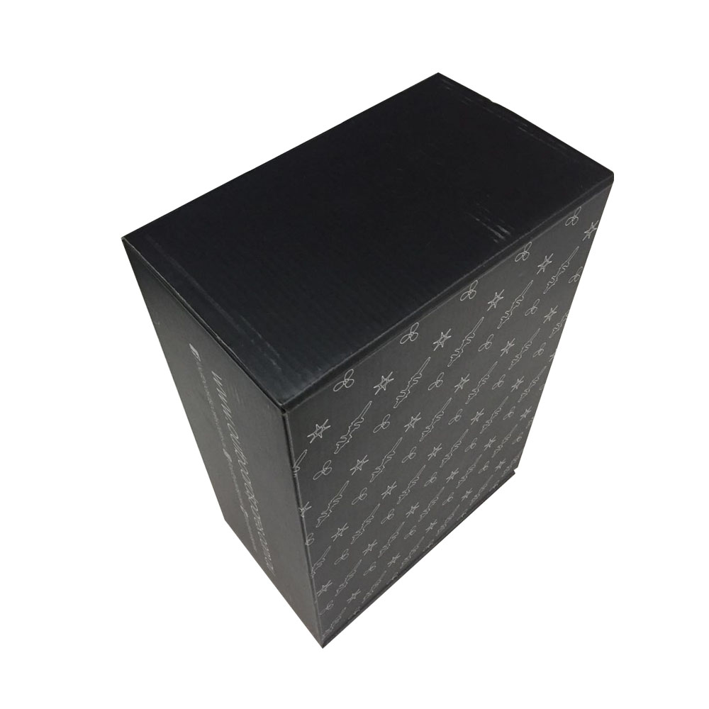 Customized Made <strong>black</strong> Small Corrugated Paper shipping boxes custom logo/foldable custom shipping boxes