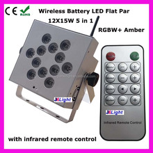 stage led par light rgbawv 6-in-1 Mini Wireless Battery 5in1 RGBWA 12x15w battery mini rg laser dj disco party stage light