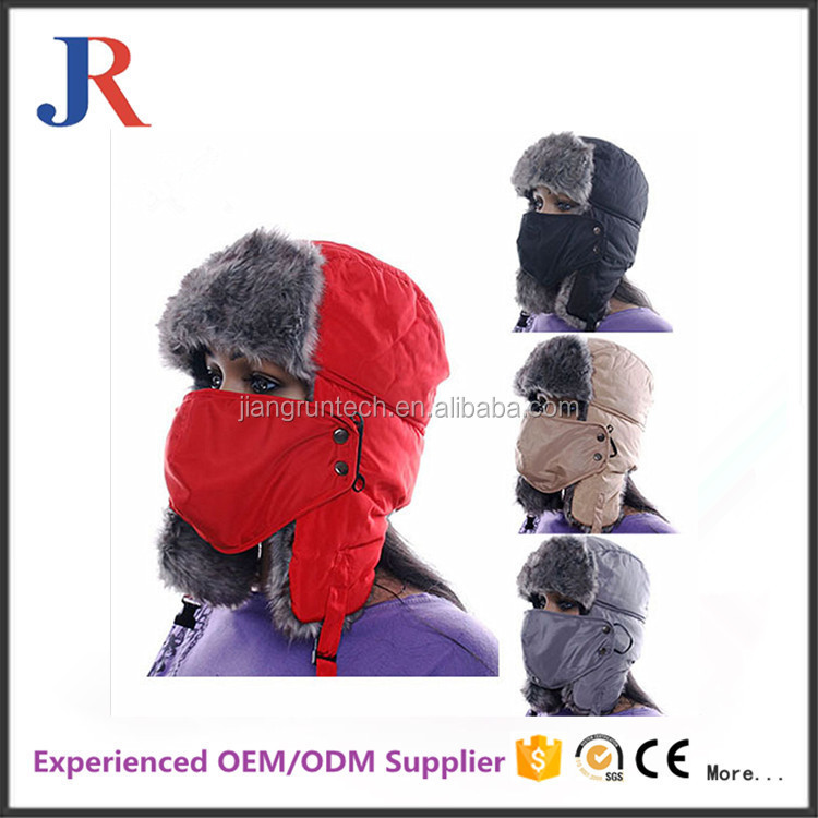 High Quality Cheap Funny winter ski hat Russian ski ear flap cap