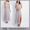 2017 Sexy Factory Price New Arrival Cold Shoulder Sweetheart Chiffon Maxi Dress