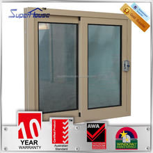 Australia AS2047 standard 10years warranty double glazed security lock 3 tracks sliding window