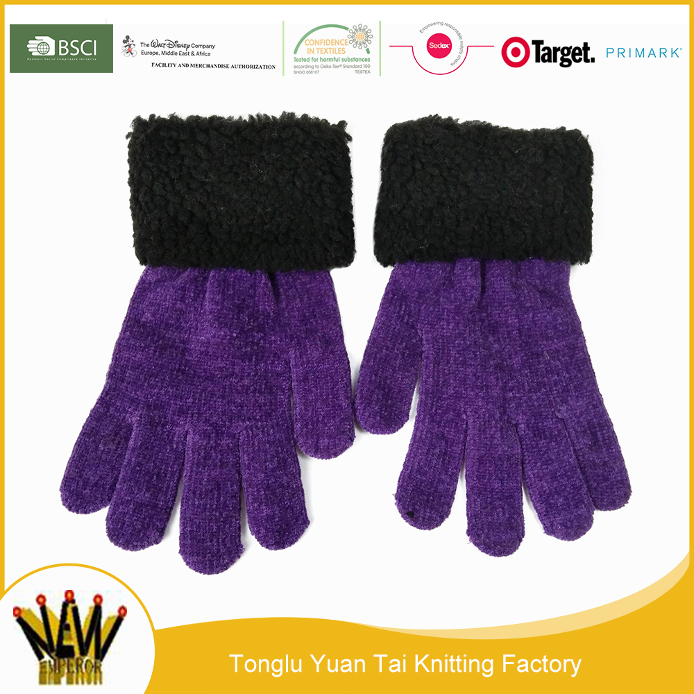 New style hot sale quality-assured purple thermal beer glove