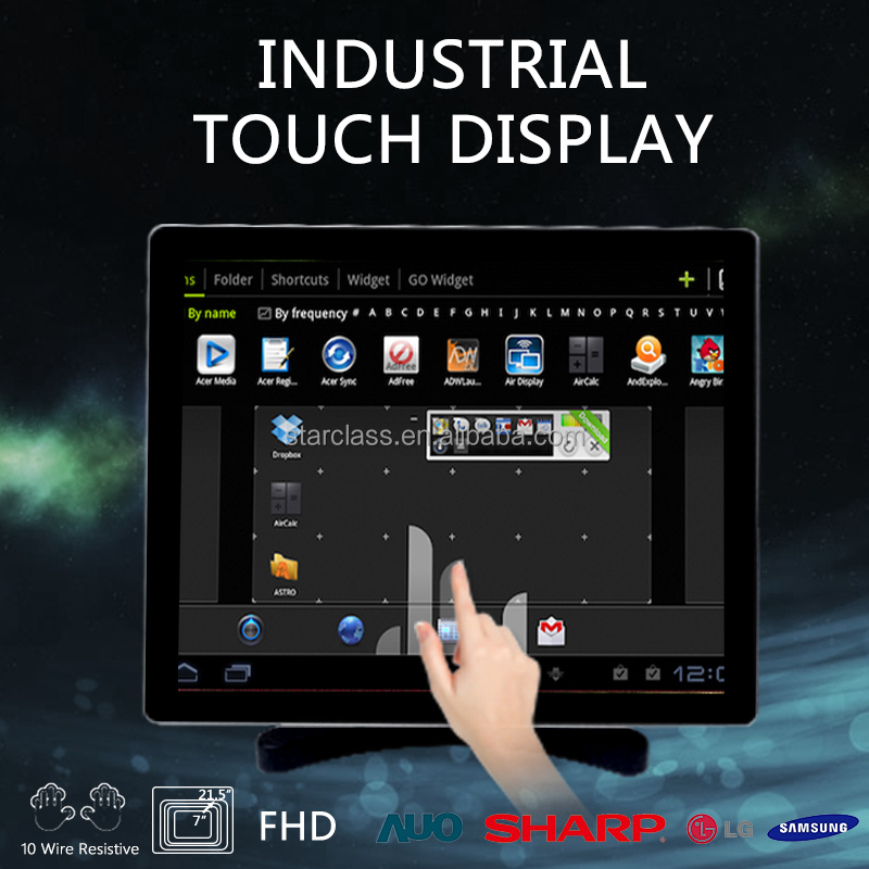 15'' monitor stainless steel industrial touch pc for the food industry