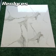 Y60176 Galzed Cleaning Polished White Stone Look Porcelain Tiles