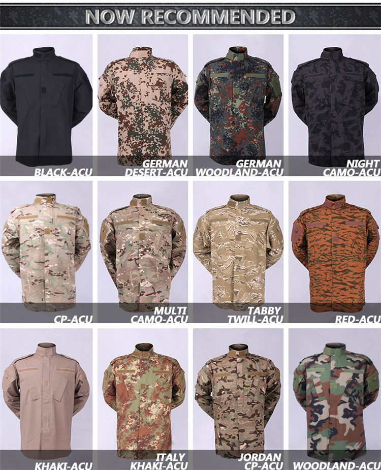 OEM service camouflage full army dress military uniform