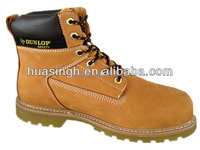Goodyear welt construction 6 inch hot sale nubuck safety boots in wheat