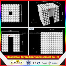 Inflatable Factory Directly Wonderful Cube Inflatable Photo Booth Tent With Brightest Colorful Full Lights Not Only Part Area
