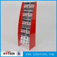acrylic floor stand Flier Display Stand for brochure