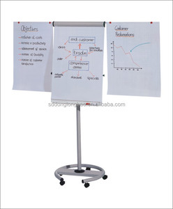 Mobile Whiteboard Standard Magnetic dry erase whiteboard flip chart stand