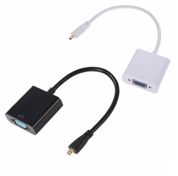 Mini / micro HDMI to VGA Adapter Converter Mini HDMI Cable Support Full HD 1080P HDTV Mini HDMI Male to VGA Female hdmi2vga