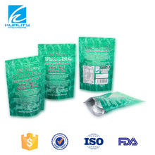 Safety food grade stand up plastic bag for protein packaging