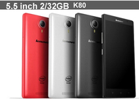 100% Original Lenovo K80 K80M 4G FDD LTE Wireless Google Play Quad Core Intel Atom Z3560 1.8Ghz 4GB 64GB 5.5 IPS Smartphone