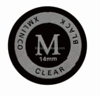 Xmlinco 9layers 14mm black clear leather pool cue tips medium