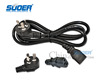 Electric Appliance Extension 1.5m 3 pin ac power cord plug for rice cooker