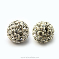 10mm Polymer Clay Rhinestone Beads, Pave Crystal Disco Ball Beads, 100Pc/bag(RB-C1438-10mm-A01)