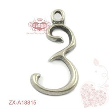 Zinc alloy charms,zinc alloy number charms,hot metal charms Language Option French