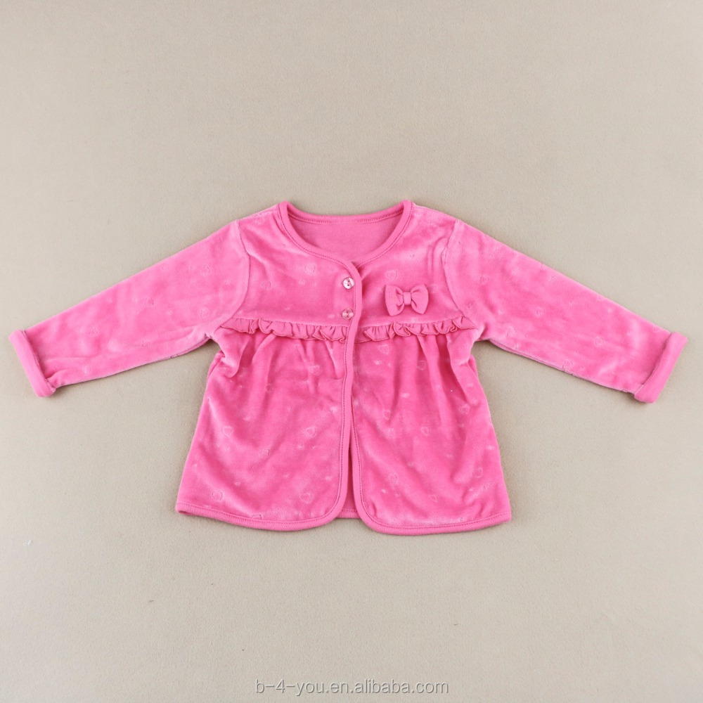 Little Girls Baby 100% Cotton Cute Pearl Bow Buttons Cardigan Sweaters