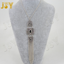 2016 piercing antique plate with colorful rhinestone chain tassel necklace jewelry gift for girl women party wedding craft