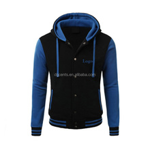 Winter blank women long sleeves black and blue full buttons baseball jacket