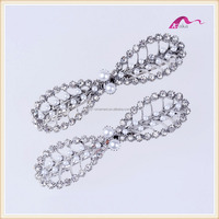 Simple Fresh Crystal Pearl Bow Shape Hair Barrettes For Wedding Accessories