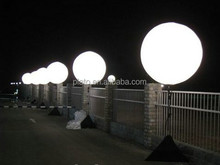 Outdoor halogen lamp spot light,inflatable giant standing lighted balloon with pole