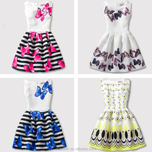 Wholesale New Baby Girl Children Party Dresses Frocks designs flower printed Children dresses