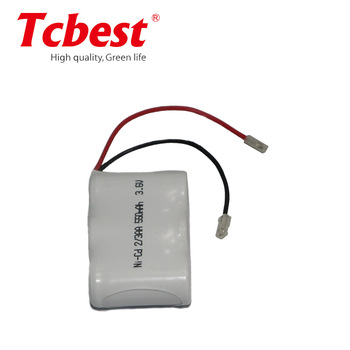 3.6V NI-CD Battery Pack Rechargeable battery pack AA 550mah,AA NI-CD rechargeable battery/