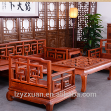 Manufacturer Supplier Classic Royal Sofa Furniture with Exquisite Carving