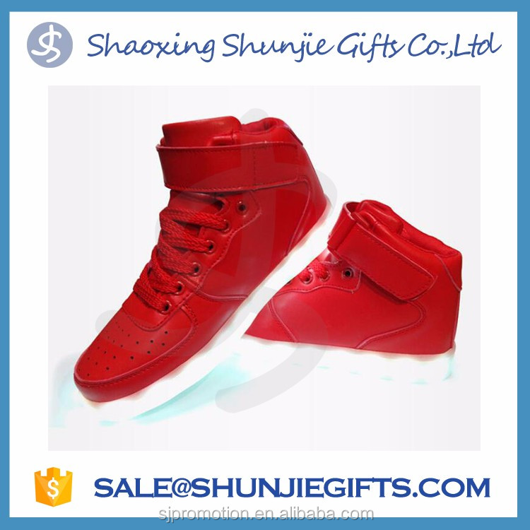 New style factory unisex led shoes light comfortable high top customized led shoes