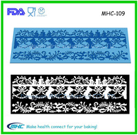 MHC beautiful silicone veil ,environment friendly 3D lace mat