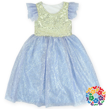 Fashion Design Small Girls Dress New Style Baby Girls Dress One Piece Tulle Dress Wholesale