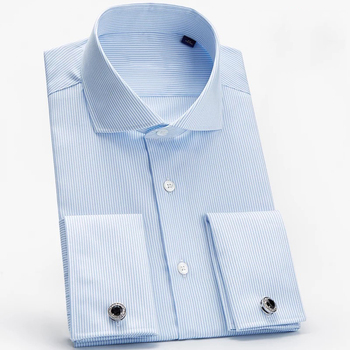 Branded men 100% egyptian cotton French double cuffs shirts