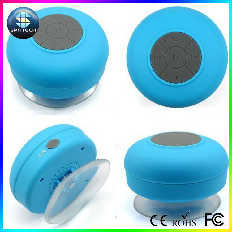 Hot selling on Amazon/ebay portable mini bathroom waterproof bluetooth rechargeable speaker