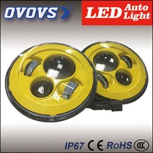 OVOVS 7 inch round defender head lights LED J-eep Wrangler headlight