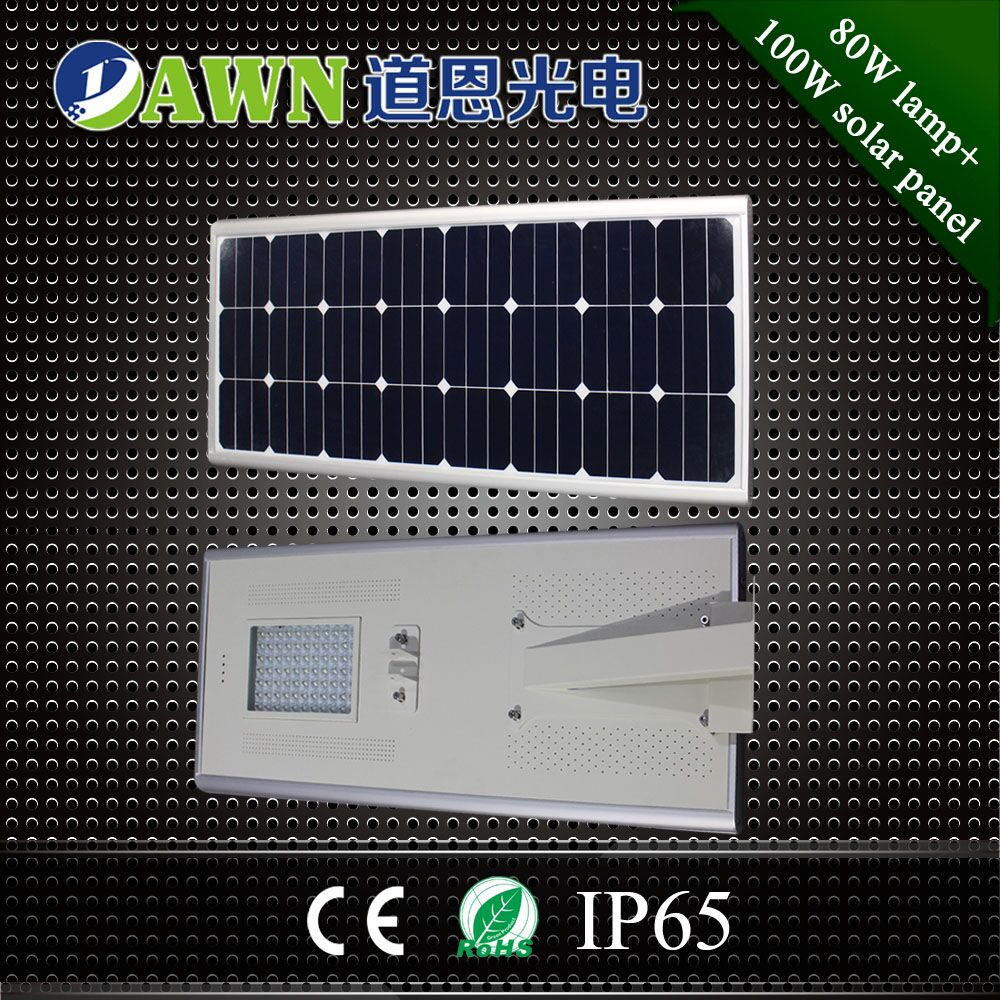 80W high lumen top quality smart integrated all in one solar led street lights lamps religious lights