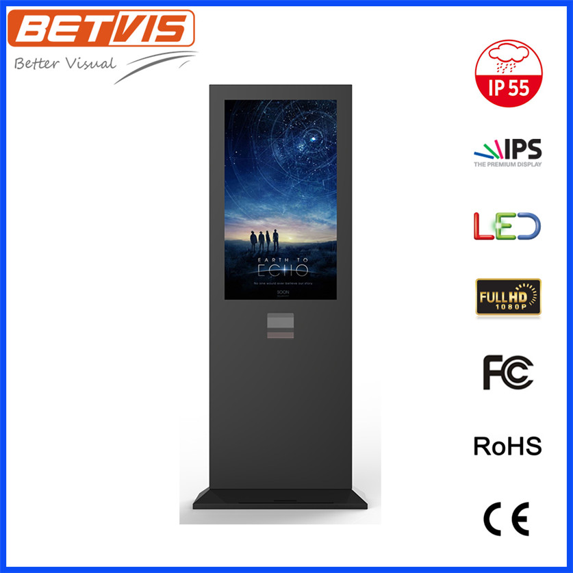 Betvis 55 Inch Outdoor LCD computer desk Player with High Brightness and Free Software
