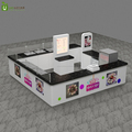 Mall roll ice cream kiosk and white color fried ice cream kiosk design for sale