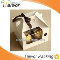 custom cardboard cupcake box foods packaging box