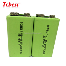 9v Mi-Mh 200mah 1.2v rechargeable battery for battery pack