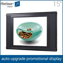 "flintstone 15""inch lcd screen video card pos merchandise display oled displays indoor advertising screen"