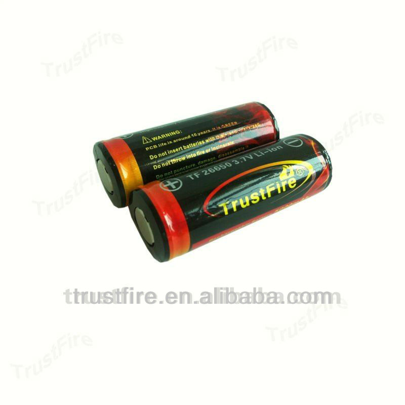26650 li ion battery 3.7V 5000mah with CE