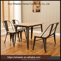 Dining Room Furniture Metal Table Chair Set, Knocked Down Metal Table And Chair