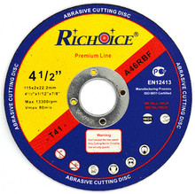 High quality 115x2x22.2mm abrasive cutting disk for metal INOX