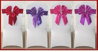 satin sash for wedding,purple satin chair sashes wedding chair cover at factory price