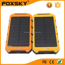Custom solar power bank 10000mah with full capacity